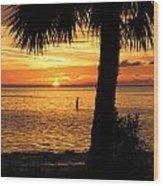 Sunset Beach Wood Print