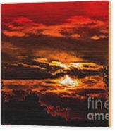 Sunset Before The Storm Wood Print