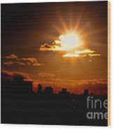 Sunset Behind Ft. Lauderdale By Diana Sainz Wood Print