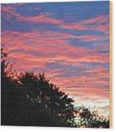 Sunset Bicolor Wood Print