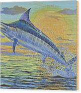 Sunset Blue Off0085 Wood Print