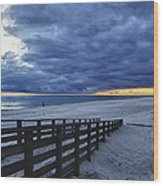 Sunset Boardwalk Wood Print by Michael Thomas
