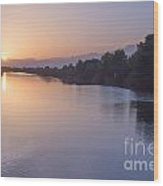 Sunset By Canal Wood Print