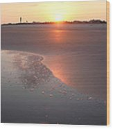Sunset By Jan Marvin Wood Print