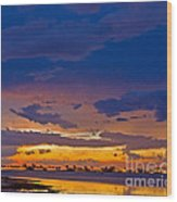 Sunset By The Bay Wood Print