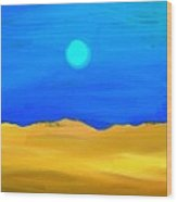 Sunset By The Ocean Inverted Wood Print