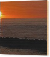 Sunset By The Sea Of Japan Wood Print