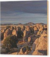 Sunset City Of Rocks Wood Print