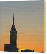 Sunset Cityscape Wood Print