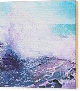 Sunset Cliff Wave Wood Print