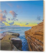 Sunset Cliffs Ave Wood Print