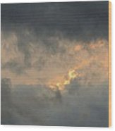 Sunset Cloud Formations Wood Print