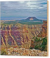 Sunset Crater View From Desert View On East Side Of South Rim Grand Canyon National Park-arizona  Wood Print