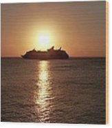 Sunset Cruise Wood Print