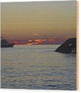 Sunset Cruise At Cape May Wood Print