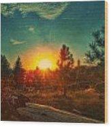 Sunset Wood Print by Dan Quam