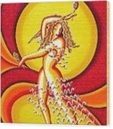 Sunset Dancer Wood Print by Joseph Sonday