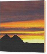Sunset Death Valley Rectangular Img 0283 Wood Print