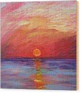 Sunset Delaware Bay Wood Print