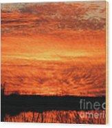 Sunset Detail  Wood Print