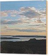 Sunset Dore Mountain Wood Print