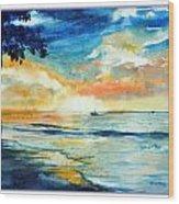 Sunset Drama Wood Print
