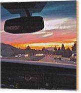 Sunset Drive Wood Print