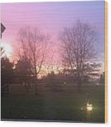 Sunset Elegant Fall Tree Show Skyview Resort Weekend Getaway To Poconos Pa America Usa Landscape Nav Wood Print