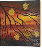 Sunset Wood Print by Elena  Constantinescu