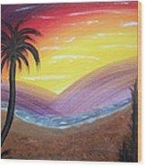 Sunset Escape Wood Print