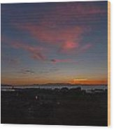 Sunset Everett Harbor Wood Print
