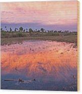 Everglades Afterglow Wood Print