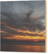 Sunset Fiery Sky Wood Print