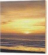 Sunset Flame Wood Print