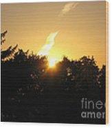 Sunset Flash Wood Print