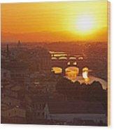 Sunset Florence Wood Print
