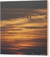 Sunset Flyby Fulton Texas Wood Print
