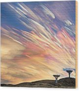 Sunset From Another Planet  Wood Print