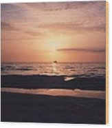 Sunset From Clearwater Beach Wood Print