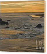 Sunset From Damon Point Wood Print