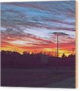 Sunset From Tellico Plains Wood Print