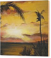 Sunset from the balconey Wood Print