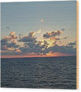 Sunset From The Carnival Triumph Wood Print