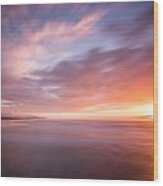 Sunset From The South Jetty Wood Print