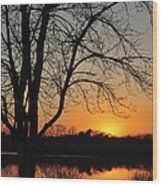 Sunset Glow Toms River New Jersey Wood Print