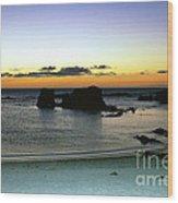 Sunset Gone Wood Print