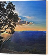 Sunset Grand Canyon Wood Print