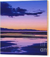 Sunset Great Salt Lake - Utah Wood Print