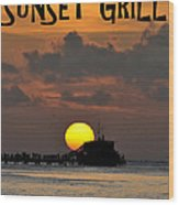 Sunset Grill Don Henley 1984 Wood Print