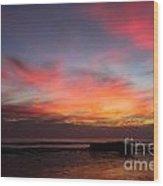 Sunset Handry's Beach Wood Print